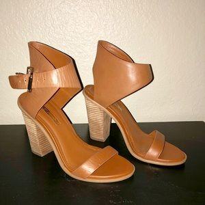 BCBG stacked heel Sandals size 7